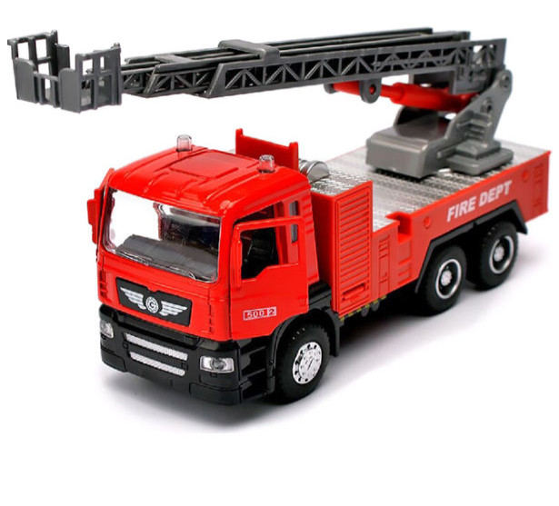 Машинка игровая Автопром «Пожарная машина» со звуковыми и световыми эффектами (5002)