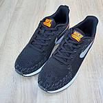 Чоловічі кросівки Nike ZOOM Air (чорно-помаранчеві) 10174, фото 4