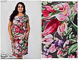 Летнее женское платье для полных женщин большого размера 50.52.54.56.58.60.62, фото 3