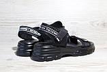 Черные женские босоножки в повседневном стиле. Размеры 36-41, фото 2