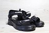 Черные женские босоножки в повседневном стиле. Размеры 36-41, фото 3