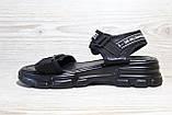 Черные женские босоножки в повседневном стиле. Размеры 36-41, фото 4
