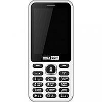 Кнопочный телефон с большим экраном и функцией Power Bank на 2 сим карты Maxcom MM814 White