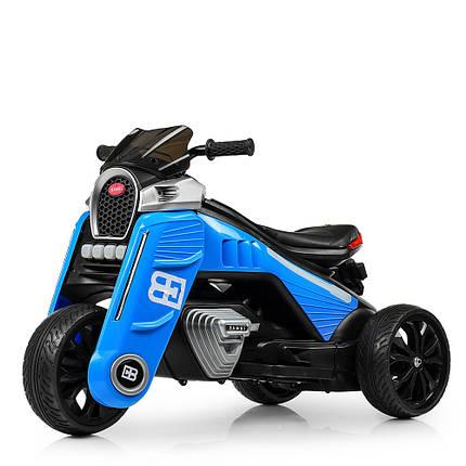 Детский мотоцикл на моторах трехколесный Bambi M 4113EL-3 синий, фото 2