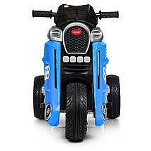 Детский мотоцикл на моторах трехколесный Bambi M 4113EL-3 синий, фото 3
