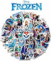 Наклейки виниловые Холодное сердце / Frozen 25штук