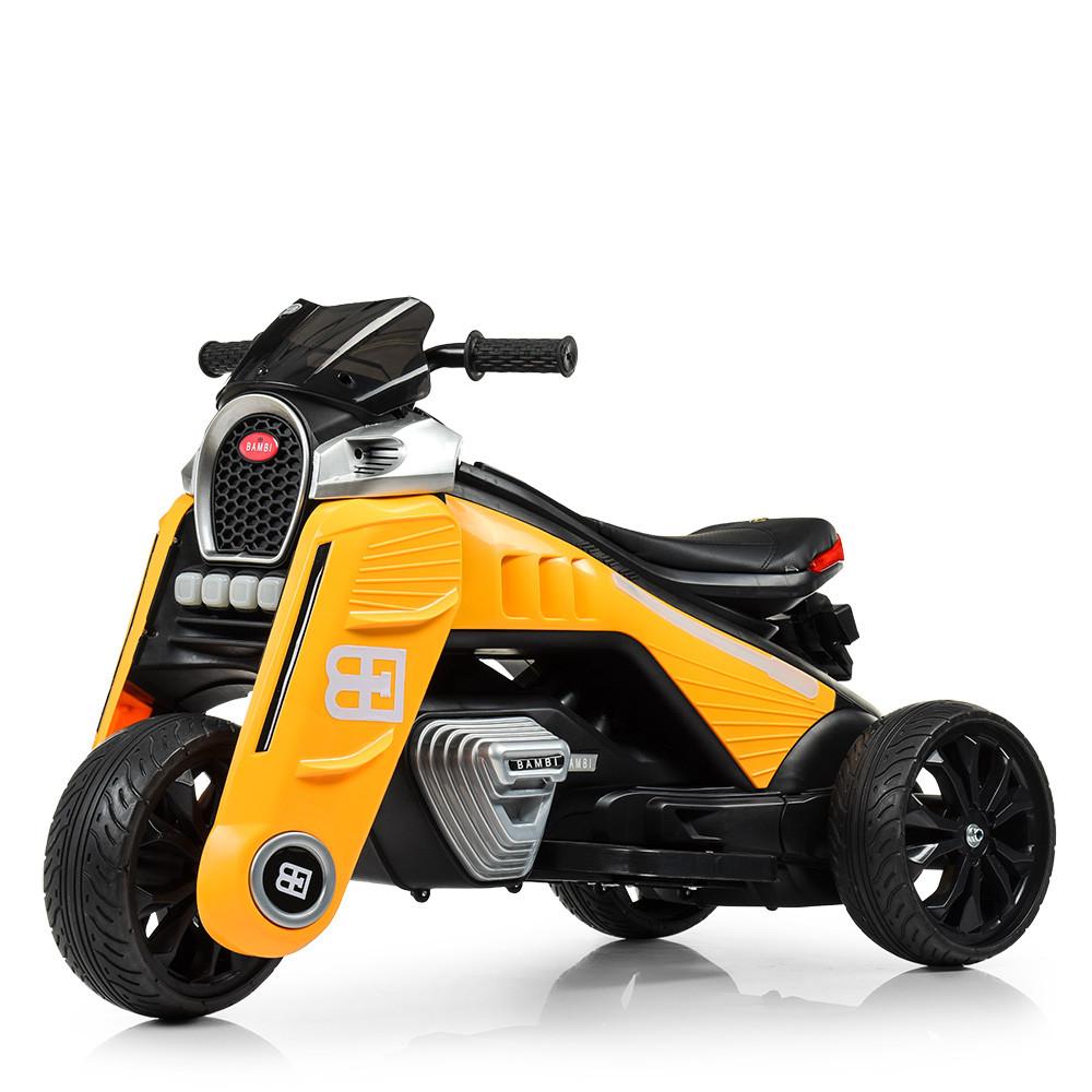 Детский мотоцикл на моторах желтый Bambi M 4113EL-6
