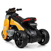 Детский мотоцикл на моторах желтый Bambi M 4113EL-6, фото 3