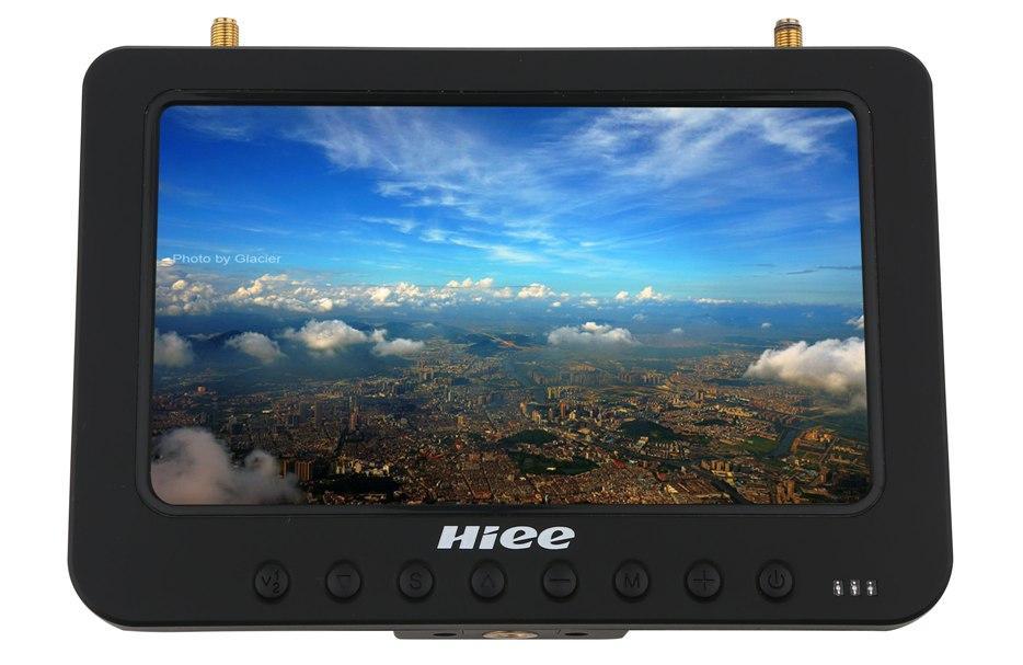 """Дисплей HD FPV 7"""" HIEE HDRM808 1024x600 з двома приймачами 5.8 GHz 32 каналу і акум."""