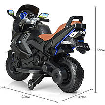 Детский мотоцикл BMW на 2 моторах Bambi M 3681ALS-2, фото 2