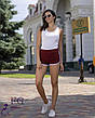 Білі жіночі спортивні короткі шорти на гумці, фото 4