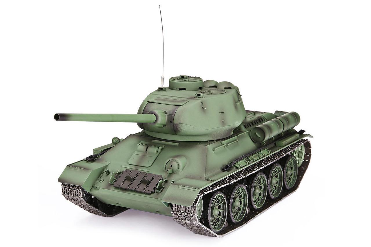 Танк на радіоуправлінні 1:16 Heng Long T-34 з пневмопушкою і і/ч боєм