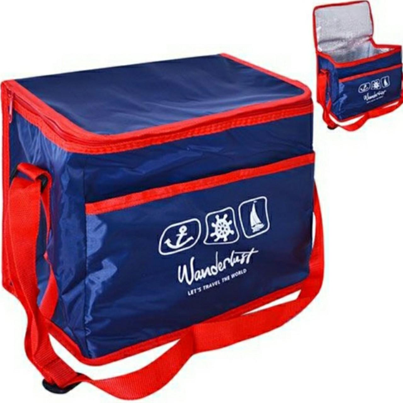 Термосумка (сумка-холодильник, термобокс) для еды и бутылок большая 10 л Wanderlust