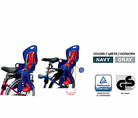 Велокресло на багажник, Регулируется высота ноги (Цвета) TILLY T-831/1