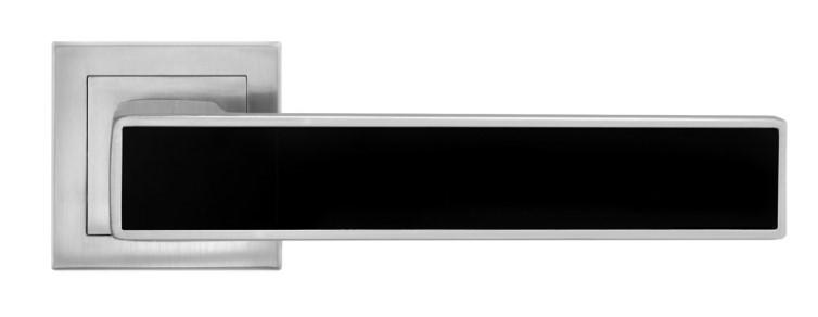 Дверная ручка MVM A-2015 MC+BLACK матовый хром с черной вставкой (Китай)