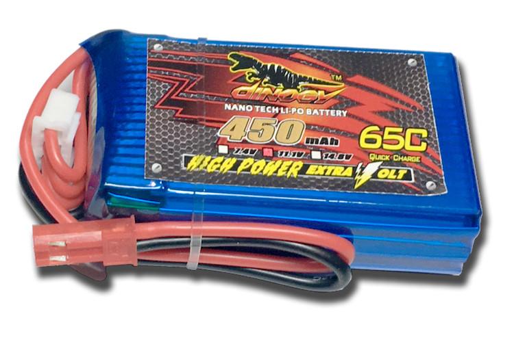 Акумулятор для радіокерованої моделі Dinogy Li-Pol 450 мАг 11.1 В 53x30x15,5 мм JST 65C