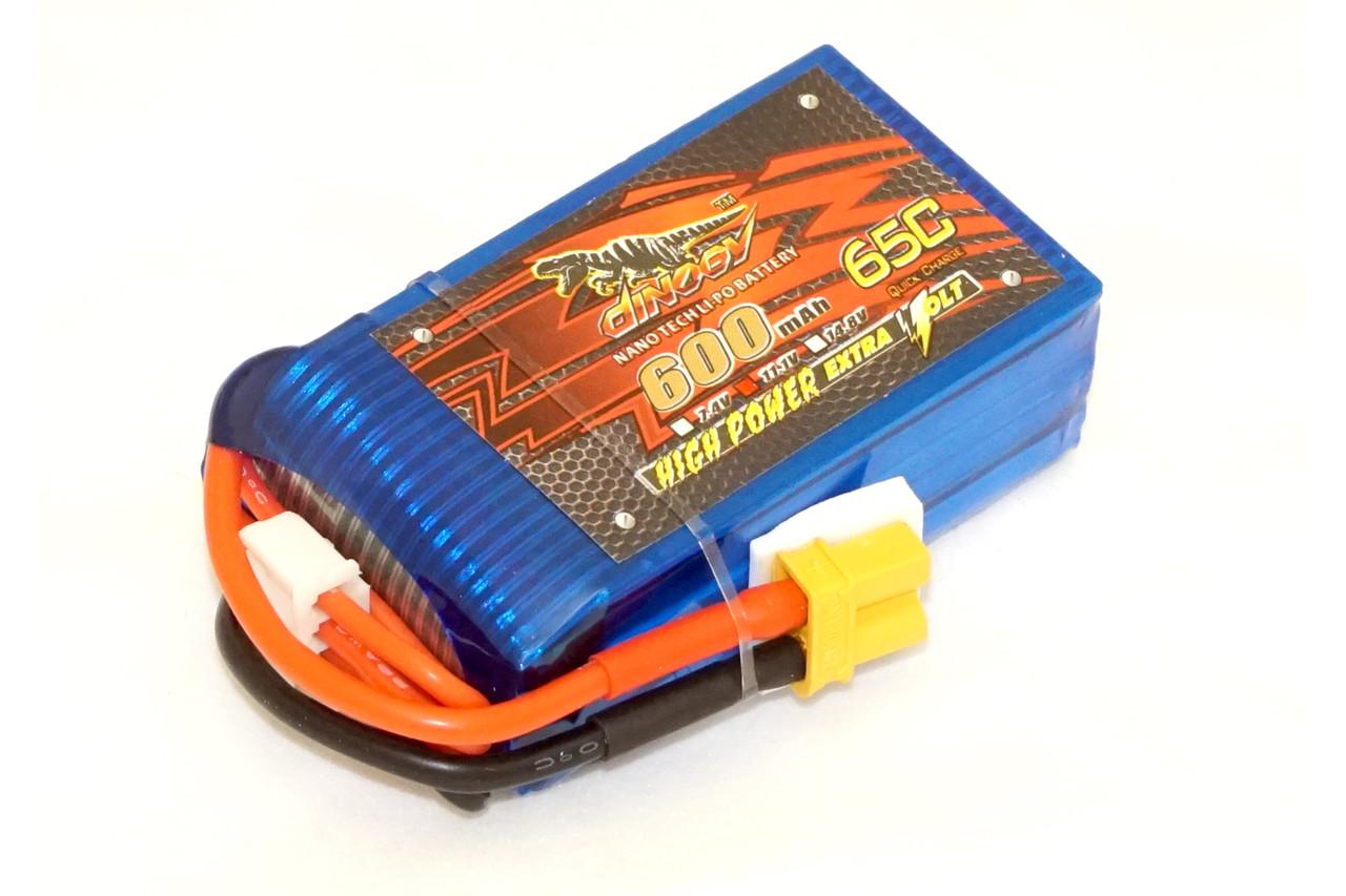 Аккумулятор Dinogy Li-Pol 600mAh 11.1V 3S 65C XT30 53x30x18.4мм