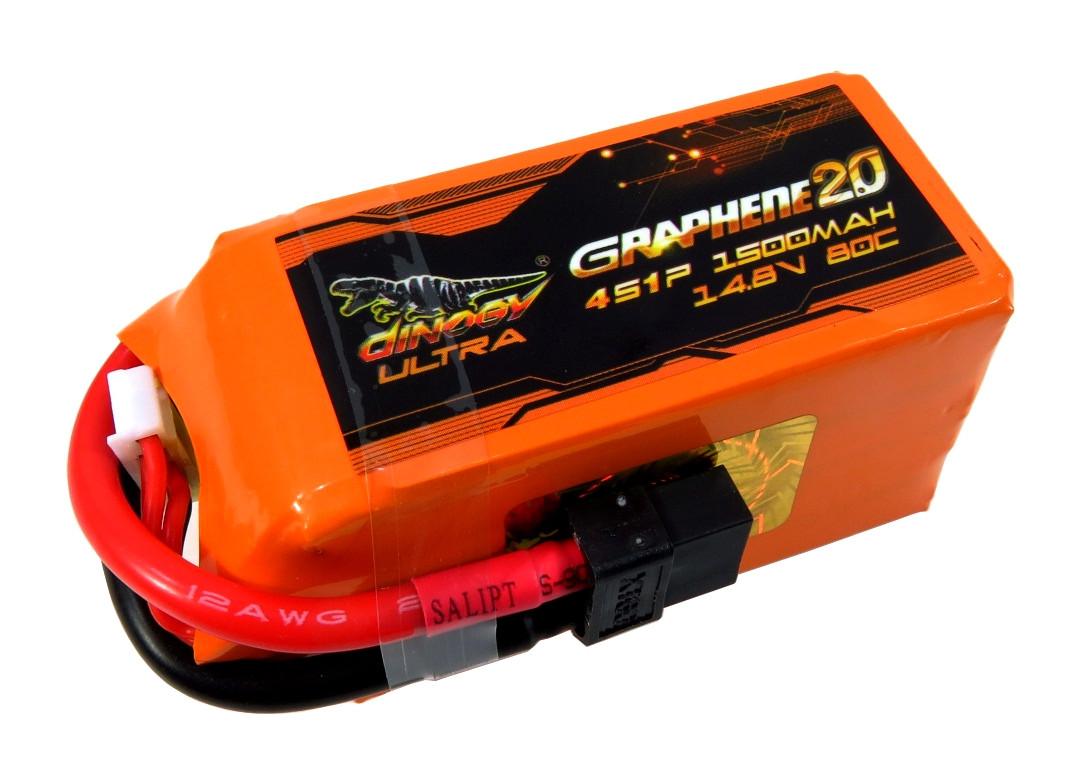 Аккумулятор для квадрокоптера Dinogy ULTRA G2.0 Li-Pol 1500 мАч 14.8 В 72x34x39 мм XT60 80C
