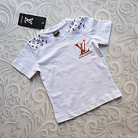 Детская белая футболка Louis Vuitton