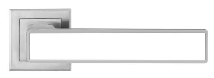 Дверная ручка MVM  A-2015 MC+WHITE матовый хром с белой вставкой (Китай)