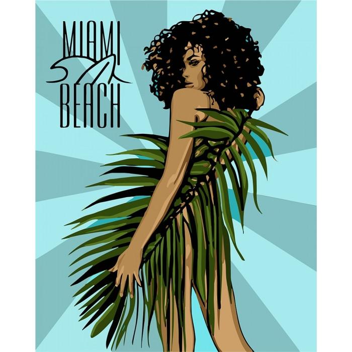 Картина по номерам Miami Beach ТМ Идейка 40 х 50 см КНО4699