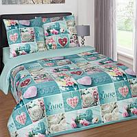 Постельное белье Комфорт текстиль  поплин LOVE семейный