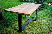 """Стол из массива дерева прямоугольный модель """"Т"""" для бара, кафе, ресторана, дома, фото 1"""