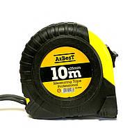 """Рулетка вимірювальна  """"Professional"""" 10м*25мм (ABS+TPR), гачок тефлон """"AzBesT""""  (6/60)"""