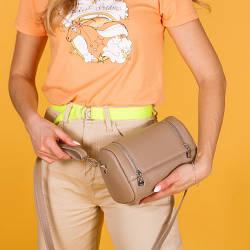 Женская сумочка из натуральной бежевой кожи . Цвет на выбор