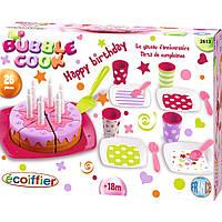 Игровой набор Ecoiffier посуды С Днем Рождения с тортом (002613)