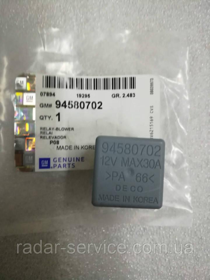 Реле вентилятора 12v 4pin, GM, 94580702