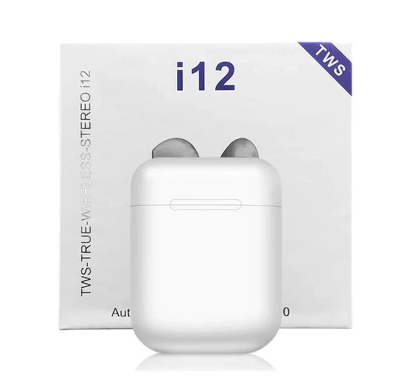 Беспроводные сенсорные наушники TWS i12 White