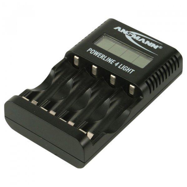 Зарядний пристрій Ansmann Power Line 4 Light Чорне (1001-0011)