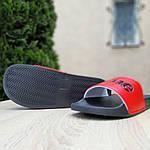Чоловічі літні шльопанці Supreme (чорно-червоні) 4008, фото 2