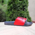Чоловічі літні шльопанці Supreme (чорно-червоні) 4008, фото 3
