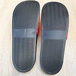 Чоловічі літні шльопанці Supreme (чорно-червоні) 4008, фото 9