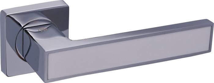 Дверні ручки Gavroche MAGNIUM CP/White (хром/білий)