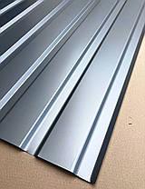 Профнастил  для забора, цвет: Серебро ПС-20 толщина 0,40 мм; высота 1.5 метра ширина 1,16 м, фото 3
