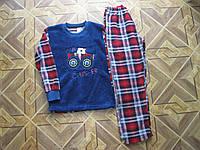 Детские теплые пижамы махра+флис для мальчиков  9-10.лет Турция, фото 1