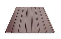 Профнастил для забору шоколад ПС-20, 0,40 мм; висота 2 метри ширина 1,16 м