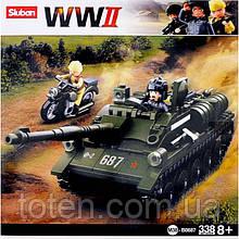 Конструктор SLUBAN  М38-В0687 военный Танк 338 дет. 16
