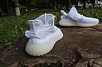 Мужские кроссовки Adidas Yeezy Boost 350 Рефлективные (белые) D6, фото 10
