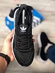 Чоловічі кросівки Adidas ZX500 RM (чорно-білі) KS 1487, фото 2
