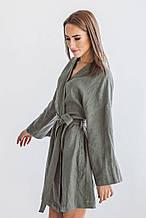 Женский халат льняной