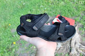 Чоловічі літні сандалі Nike (чорно-помаранчеві) D7