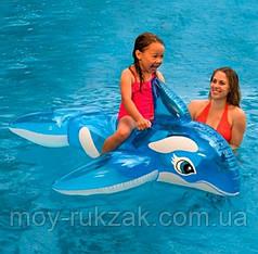 Детский надувной плотик для катания «Дельфин» Intex 58523, 152 x 114 см