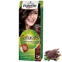"""Крем-фарба для волосся """"Фітолінія"""" Palette Naturals Schwarzkopf Phytolinia 3-1 (№850) Темний шатен, фото 1"""