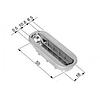Дверной замок AGB Mediana Polaris PZ магнитный под цилиндр(Титан), фото 4
