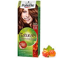 """Крем-фарба для волосся """"Фітолінія"""" Palette Naturals Schwarzkopf Phytolinia 6-68 (№568) Карамельний каштановий, фото 1"""