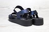 Босоніжки жіночі темно-сині на танкетці. Розміри 36-41, фото 2